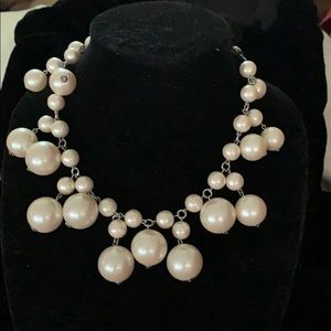 Pearls with a ribbon tie